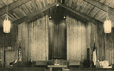 Faith Evangelical Free Church of Robbinsdale upon its dedication, circa 1966
